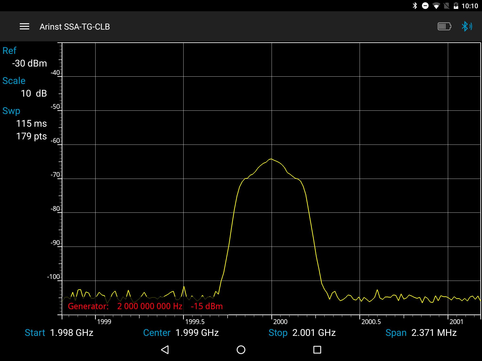 Portable Spectrum Analyzer ARINST SSA-TG R2